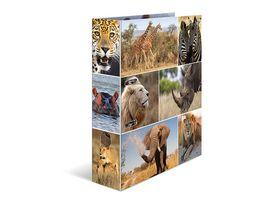 HERMA Motiv Ordner A4 Afrika Tiere breit