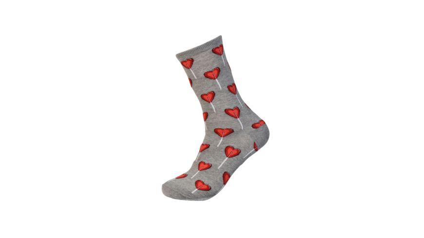 HOTSOX Damen Socken HEART grau