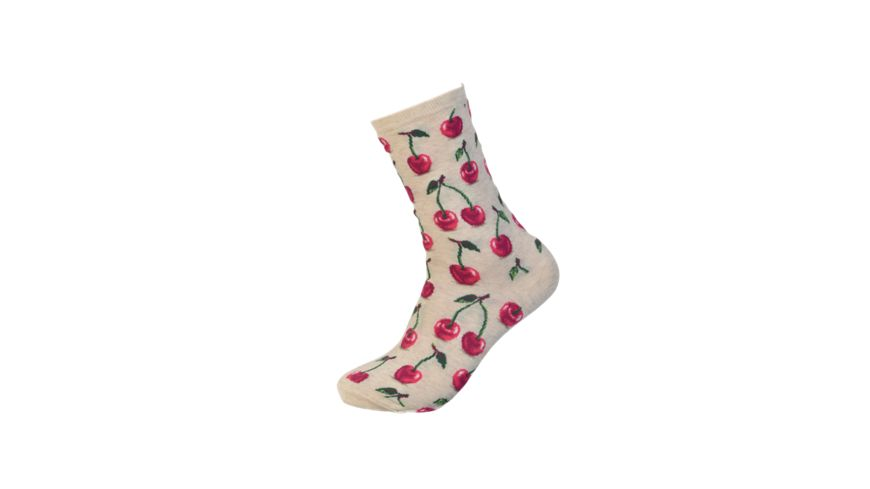 HOTSOX Damen Socken HOT CHERRY natur