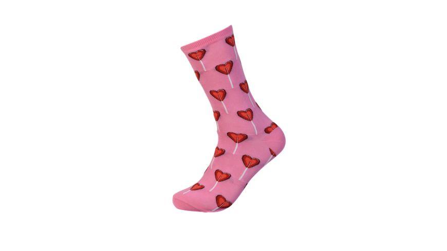 HOTSOX Damen Socken HEART pink
