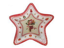 TRENDSHOP Weihnachtsteller Stern