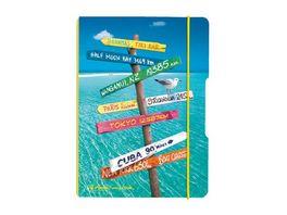 my book flex Notizheft PP A6 Reise kariert