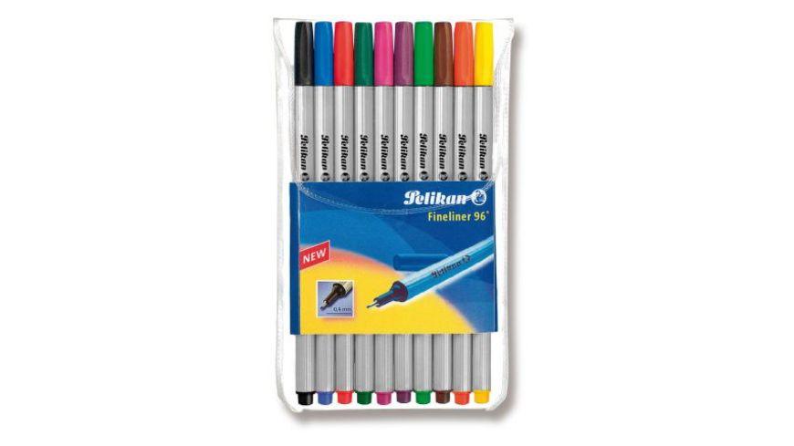 Pelikan Fineliner 96 10er Pack farbig sortiert