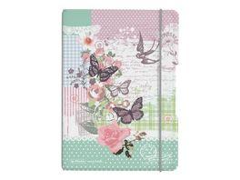 my book flex Notizheft PP A5 Ladylike Butterfly kariert