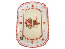 TRENDSHOP Weihnachtsteller oval