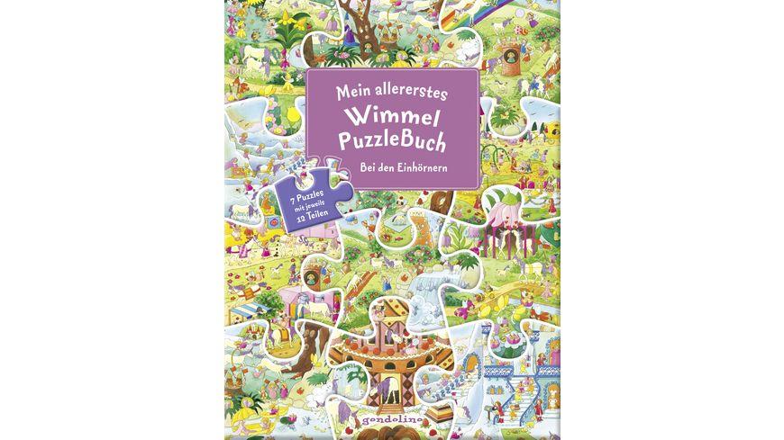 Buch gondolino Mein allererstes WimmelPuzzleBuch Bei den Einhoernern