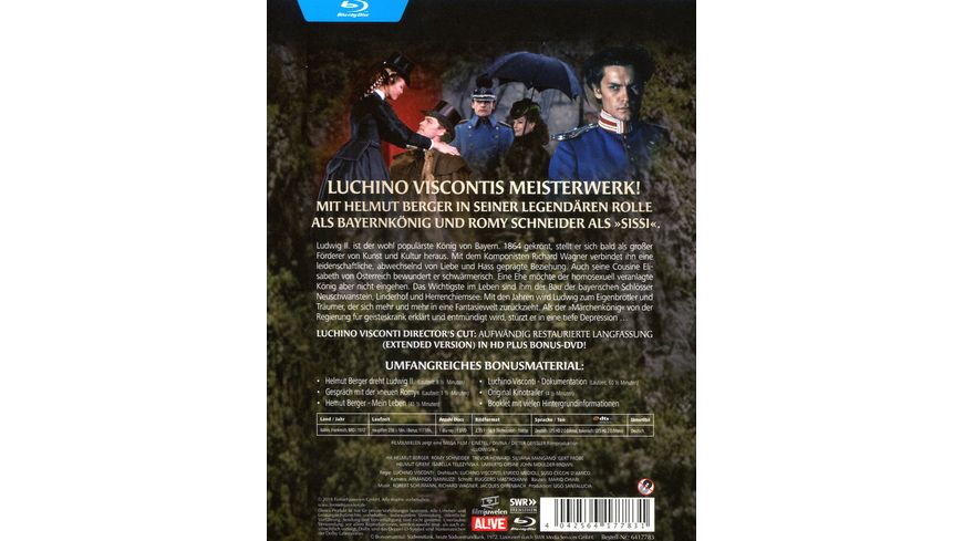 Ludwig II Director s Cut Filmjuwelen Bonus DVD