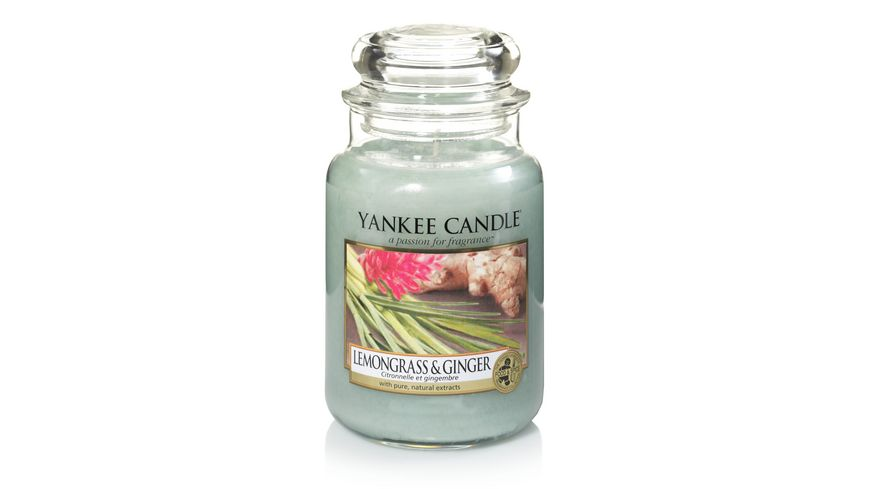 YANKEE CANDLE Lemongrass Ginger Grosses Glas