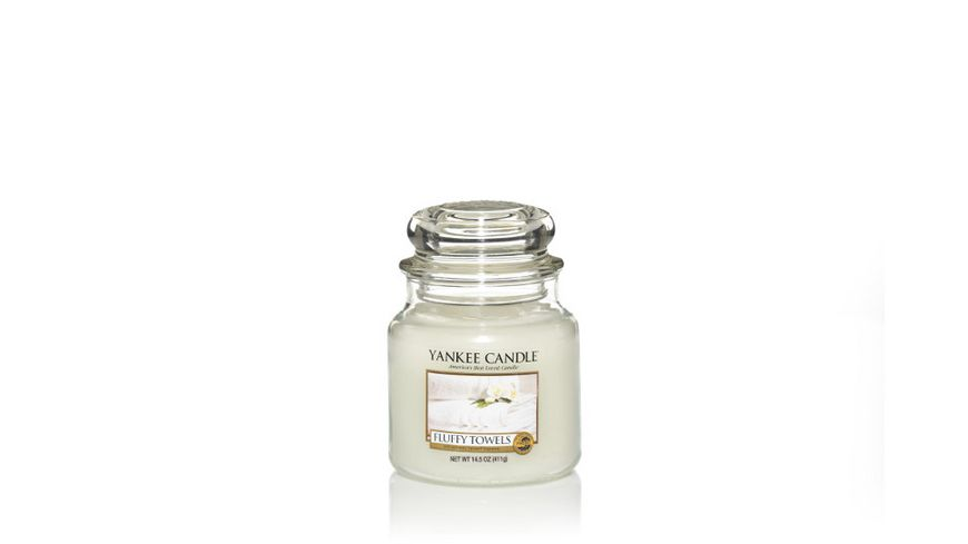 YANKEE CANDLE Fluffy Towels Mittleres Glas
