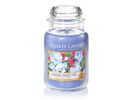 YANKEE CANDLE Garden Sweet Pea Grosses Glas