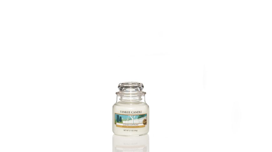 YANKEE CANDLE Clean Cotton Kleines Glas