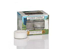 YANKEE CANDLE Teelichter Clean Cotton 12er Pack