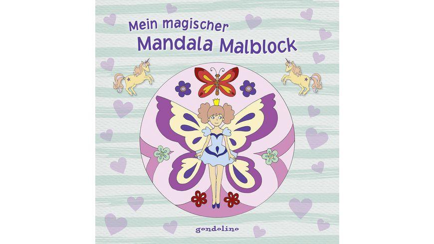 Buch gondolino Mein magischer Mandala Malblock Blumenelfe