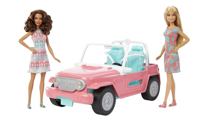 Mattel Barbie Auto mit zwei Barbies