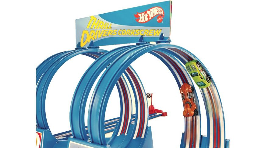 Mattel Hot Wheels Thrill Drivers Corkscrew 11F