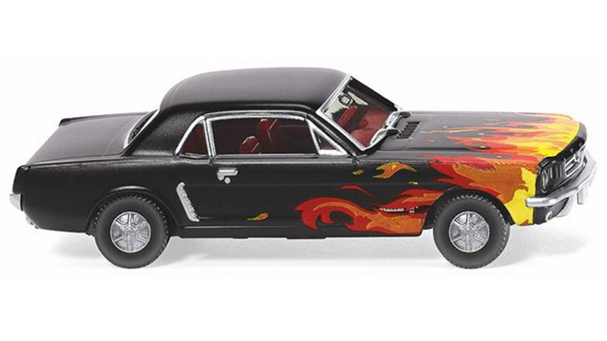 WIKING 020503 Ford Mustang Coupe schwarz mit Flammendekor 1 87