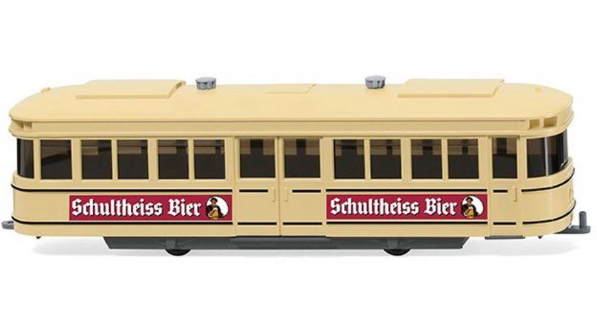 Wiking 0749 01 Strassenbahn Anhaenger Schultheiss Bier 1 87