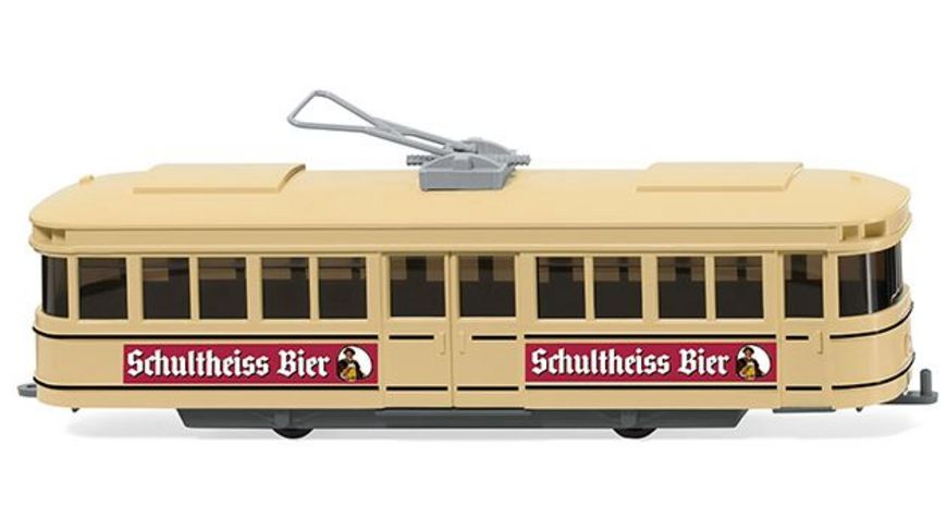 """WIKING 075001  Straßenbahn Triebwagen """"Schultheiss"""