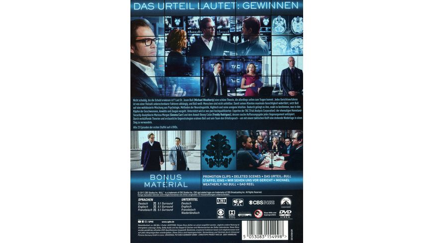 Bull Staffel 1 6 DVDs