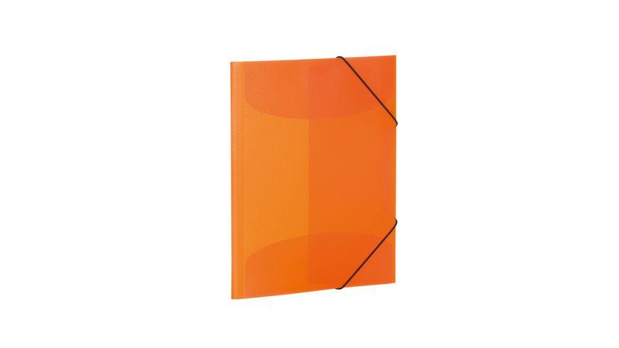 HERMA Sammelmappe A4 PP transluzent orange