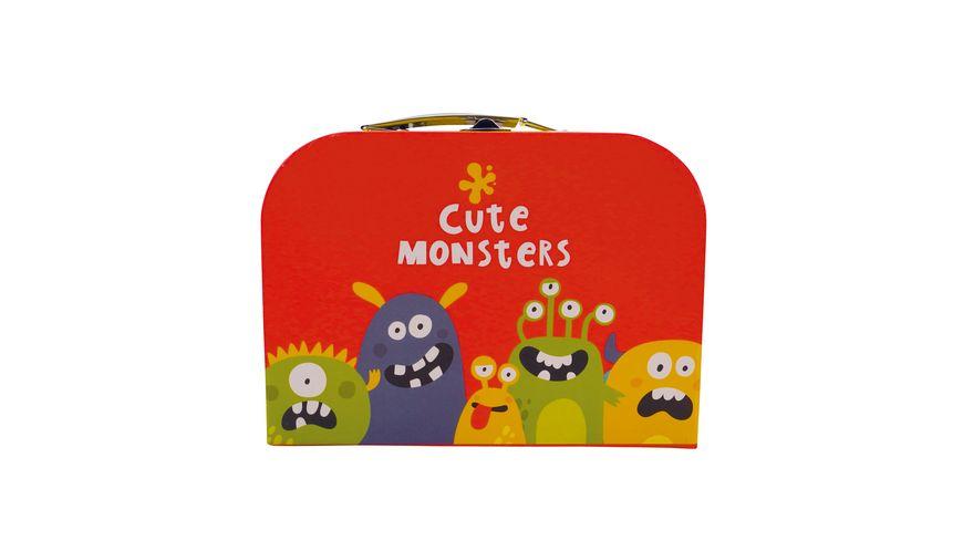 Bieco Koffer mittelgross mit suessen Monstern