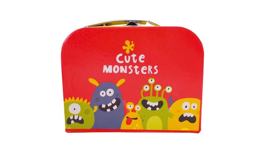 Bieco Koffer gross mit suessen Monstern