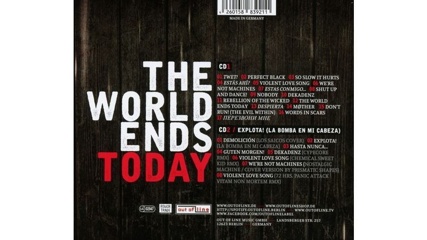 The World Ends Today 2CD