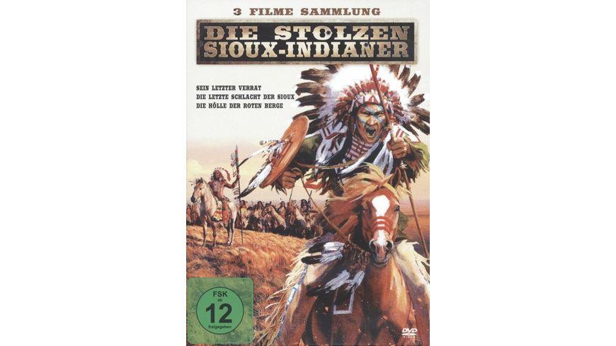 Die stolzen Sioux Indianer 3 Filme in einer Box