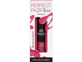 alessandro Perfect Pair Die Kombination aus Lippenstift und Nagellack in praktischer Stiftform