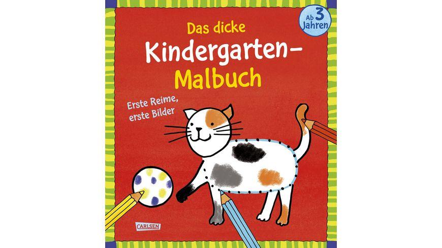 Das dicke Kindergarten Malbuch Erste Reime erste Bilder