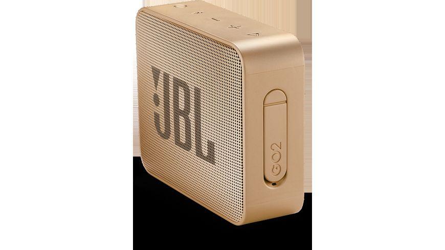 JBL GO 2 Bluetooth Lautsprecher Champagne