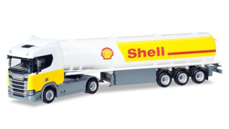Herpa 307611 Scania CR 20 ND Benzintank Sattelzug Shell