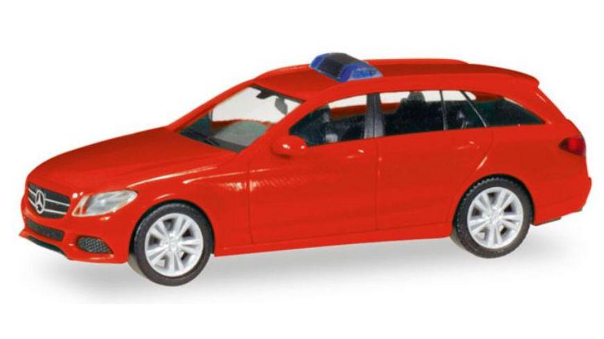 Herpa 13284 Herpa MiniKit Mercedes Benz C Klasse T Modell rot