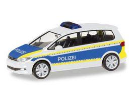 Herpa 93576 VW Touran Polizei Brandenburg