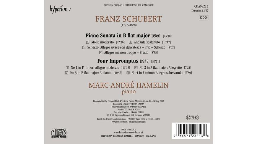 Sonate D 960 4 Impromptus D 935