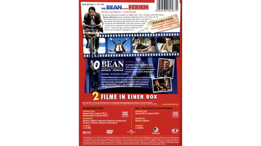 Mr Bean macht Ferien Bean Der ultimative Katastrophenfilm 2 DVDs