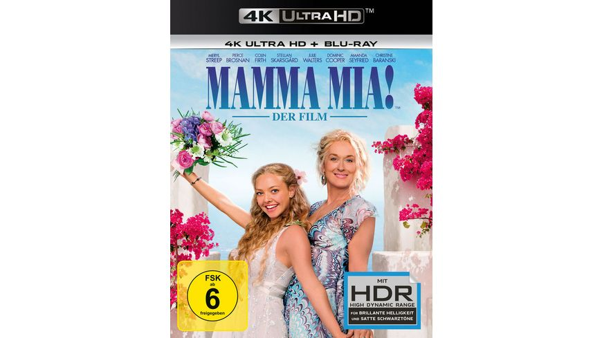 Mamma Mia Der Film 4K Ultra HD Blu ray 2D