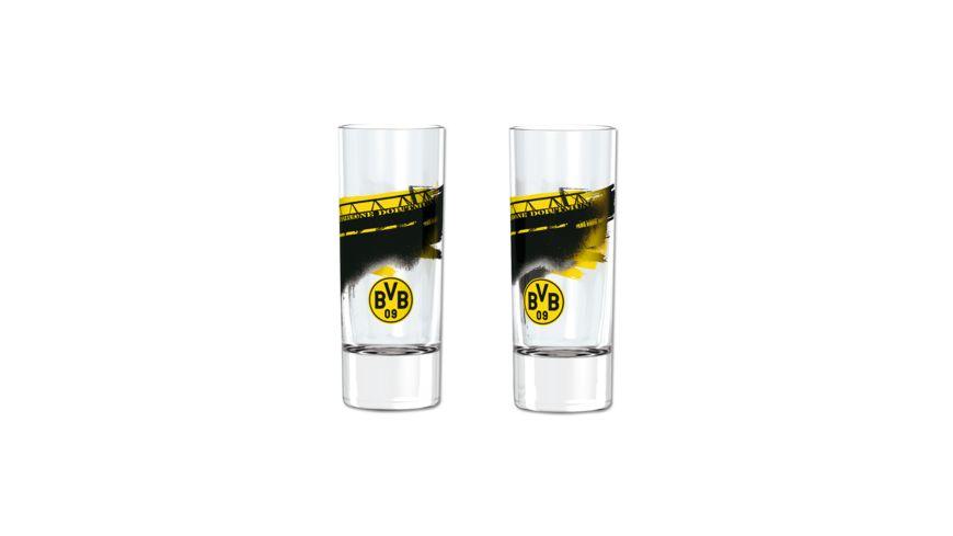 BVB Schnapsglas mit Suedtribuene 2er Set