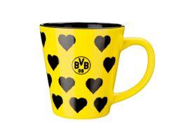 BVB Tasse mit Herzen