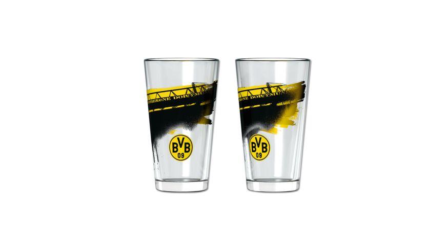 BVB Wasserglas mit Suedtribuene 2er Set