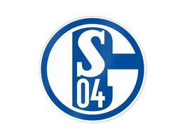 FC Schalke 04 Aufkleber blau weiss