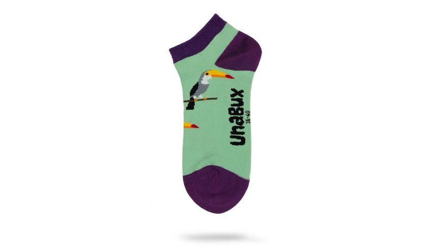 Unabux Unisex Sneaker Socken Tukan Flamingos 2er Pack
