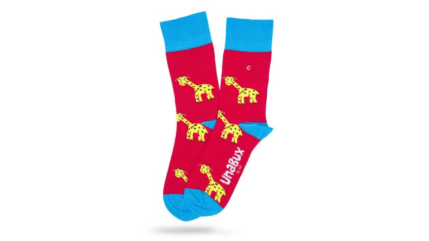 Unabux Socke Giraffen Unisex