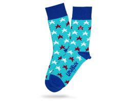 Unabux Socke Sterne rot weiss Unisex