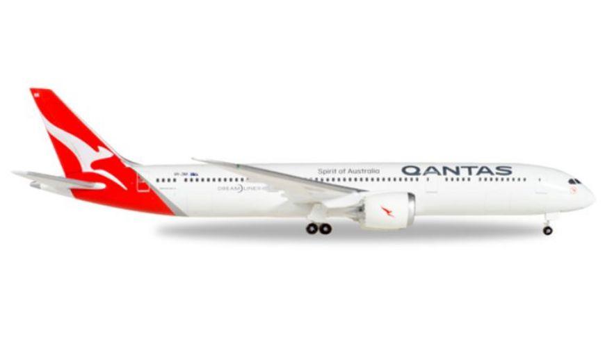 Herpa 530545 Wings Qantas Boeing 787 9 Dreamliner new colors VH ZNA