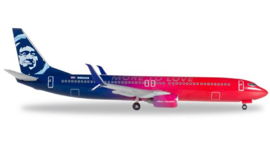 Herpa 530637 Wings Alaska Airlines Boeing 737 900 Virgin USA merger livery N493AS