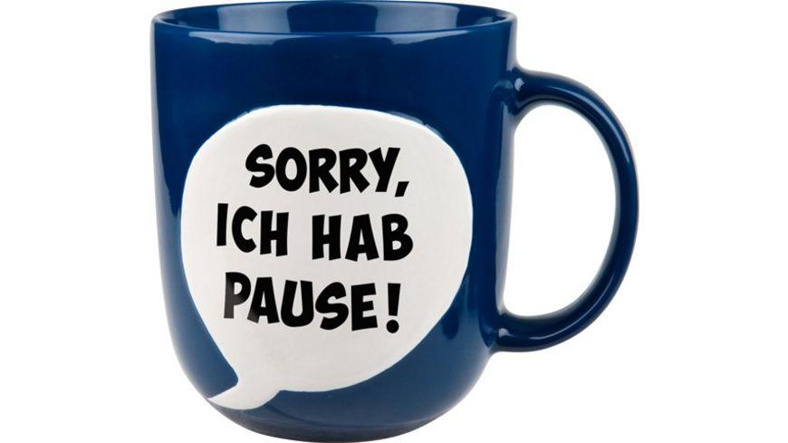 WAECHTERSBACH Henkelbecher Spruchblase blau Sorry Pause