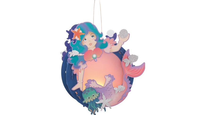 Folia Laternen Bastelset 23x33cm Meerjungfrau