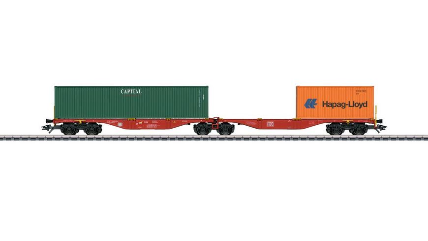Maerklin 47801 Doppel Containertragwagen Bauart Sggrss 80