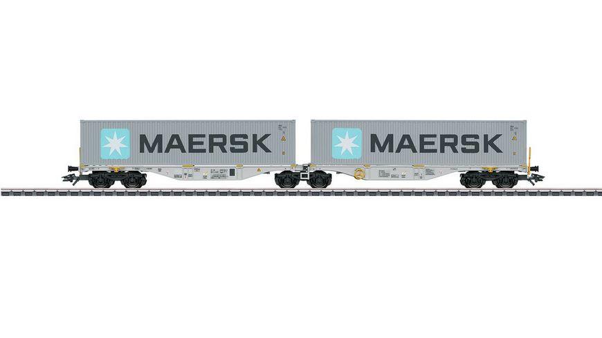 Maerklin 47803 Doppel Containertragwagen Bauart Sggrss 80